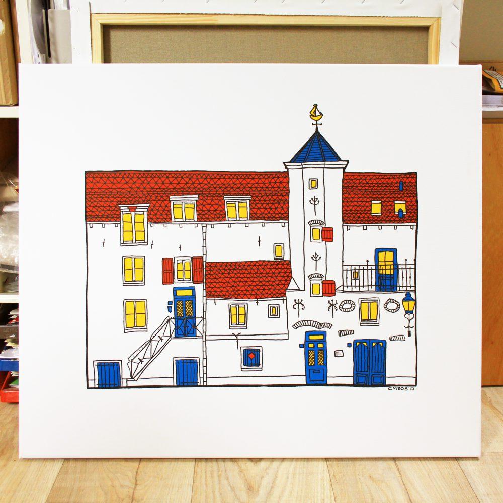 foto's Muurhuizen 33 – Het Gasthuys schilderij 1