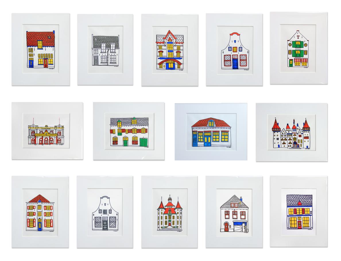 huizen tekeningen-all
