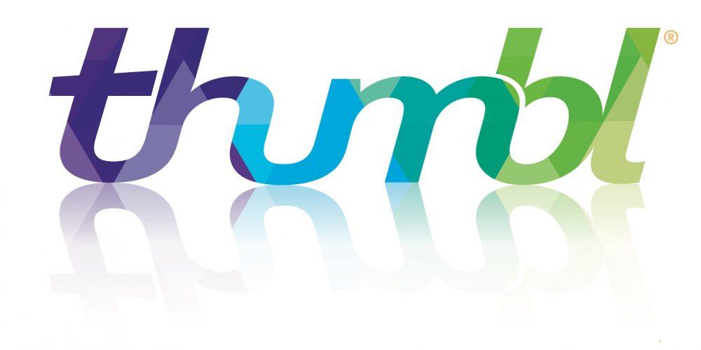 Thumbl logo reflectie